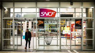La gare de Perpignan, au douzième jour de la grève des cheminots contre la réforme des retraites, le 16 décembre 2019. (JC MILHET / HANS LUCAS / AFP)