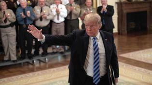 Donald Trump lors d'une réunion à la Maison Blanche, à Washington (Etats-Unis), le 5 septembre 2018. (NICHOLAS KAMM / AFP)