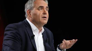 Xavier Bertrand, président (ex-LR) du conseil régional des Hauts-de-France, le 14 juin 2020. (ARNAUD JOURNOIS / MAXPPP)