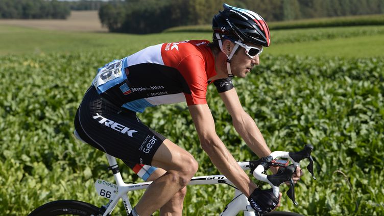 Frank Schleck (Trek) roule depuis des semaines avec une douleur au genou droit (DIRK WAEM / BELGA MAG)