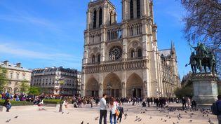 La cathédrale Notre-Dame de Paris, le 6 avril 2018. (CHRISTIAN BÖHMER / DPA)