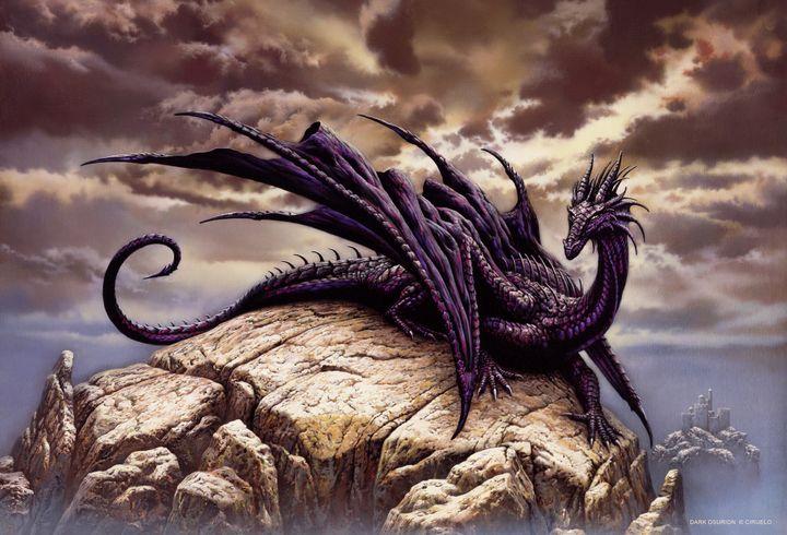 Réalisation de Ciruelo Cabral, maître incontesté du dessin fantasitique. Ses oeuvres sont présentés dans l'exposition et ont aussi servi de modèles à la réalisation des dragons animés.  (Ciruelo Cabral)