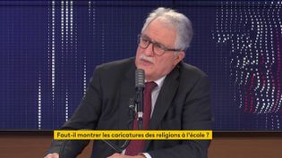 """Chems-Eddine Hafiz, le recteur de la Grande mosquée de Paris, était l'invité du """"8h30 franceinfo"""" le 31 octobre 2020. (FRANCEINFO / RADIO FRANCE)"""