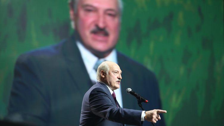Le président biélorusse, Alexandre Loukachenko, le 17 septembre 2020 à Minsk (Biélorussie). (TUT.BY / AFP)
