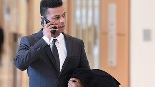 Yassine Bouzrou, l'avocat de la famille d'Adama Traoré, le 3 mars 2020 à Paris. (ALAIN JOCARD / AFP)