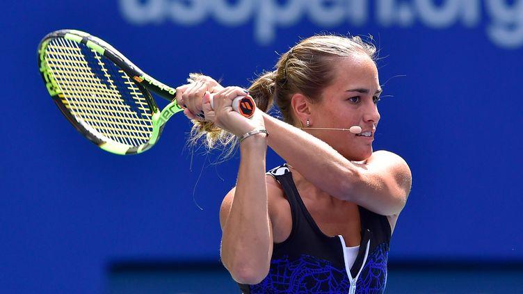Monica Puig n'a pas su confirmer à l'US Open après son titre aux Jeux olympiques. (STEVEN RYAN / GETTY IMAGES NORTH AMERICA)