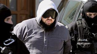 Mohamed Achamlane a été arrêté à son domicile de la commune de Bouguenais, au sud-ouest de Nantes (Loire-Atlantique), le 30 mars 2012. (JEAN-SEBASTIEN EVRARD / AFP)