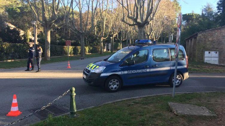 Les gendarmes ont ratissé la zone du parc de la Valmasque à Mougins mercredi 25 décembre, jour de la découverte du corps. (MAXIME FAYOLLE / RADIO FRANCE)
