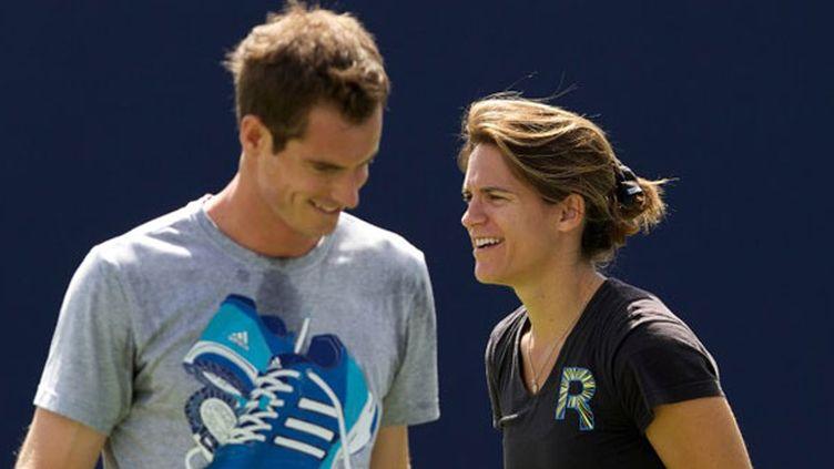 Andy Murray avec son nouveau coach, Amélie Mauresmo