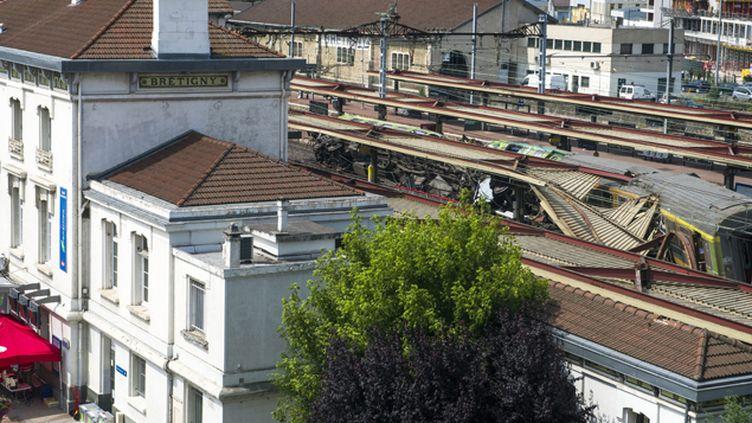 (Le déraillement à Brétigny du train Paris-Limoges, le 12 juillet 2013, a fait sept morts et des dizaines de blessés © MaxPPP)