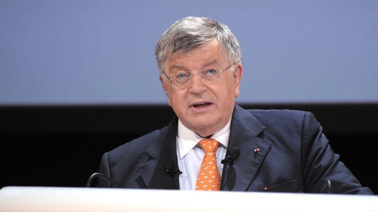 Didier Lombard, alors président de France Télécom, le 9 juin 2010 à Paris. (ERIC PIERMONT / AFP)