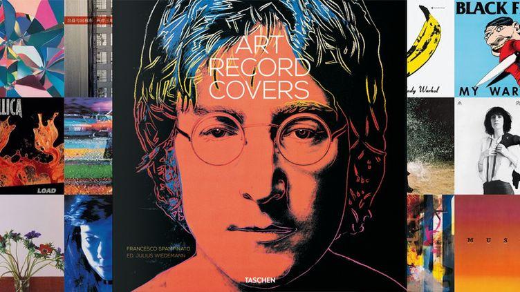 """""""Art Record Covers"""" de Francesco Spampitano - la pochette de John Lennon qui orne la couverture du livre est l'oeuvre d'Andy Warhol.  (Taschen)"""
