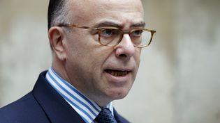 Le ministre de l'Intérieur, Bernard Cazeneuve, le 17 novembre 2014, place Beauvau (Paris). (THOMAS SAMSON / AFP)