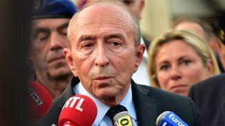 Le ministre de l'Intérieur Gérard Collomb, dimanche 1er octobre 2017 à Marseille. (GEORGES ROBERT / CITIZENSIDE / AFP)