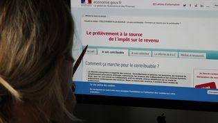 Site internet du gouvernement pour expliquer le prélèvement des impôts à la source. Image d'illustration. (JEAN-FRANCOIS FREY / MAXPPP)