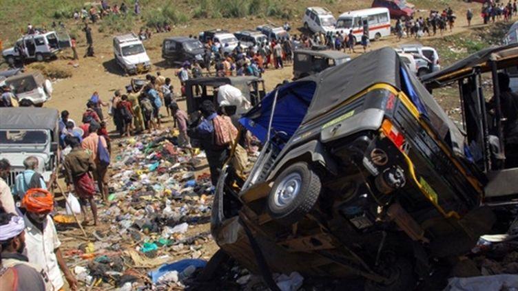 Un pèlerinage au Kerala, au sud de l'Inde, a tourné au drame, le 15 janvier 2011. (AFP/STRDEL)