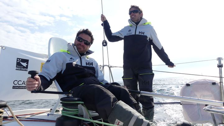 Anthony Marchand (à gauche) et Fabien Delahaye (à droite) sont parmi les favoris de la Transat en Double 2021. (GROUPE GILBERT)