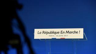 Photo prise au quartier général de La République en marche à Paris le 18 juin 2017 (illustration). (BERTRAND GUAY / AFP)