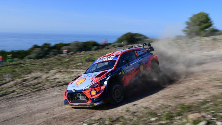 L'Espagnol Dani Sordo au volant de sa Hyundai  (MIGUEL MEDINA / AFP)
