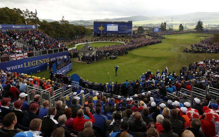 C'est sur le parcours de golf de Gleneagles que se disputera le championnat européen de golf. (ADRIAN DENNIS / AFP)