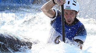 Boris Neveu lors lors d'une épreuve des Jeux olympiques de Tokyo, le 28 juillet 2021. (LUIS ACOSTA / AFP)