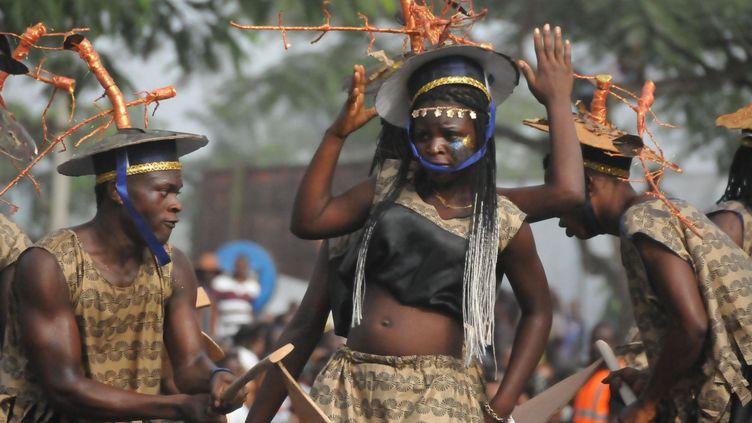 Le carnaval de Calabar, la capitale de l'Etat de Cross River au Nigeria, est considéré comme la plus grande fête de rue d'Afrique. (Sipa/Chine nouvelle)