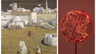"""Du """"Village arabe"""" de Kandinskyau """"Hot Spot"""" de Mona Hatoum (Centre Pompidou MNAM CCI RMN Grand Palais / Mona Hatoum)"""