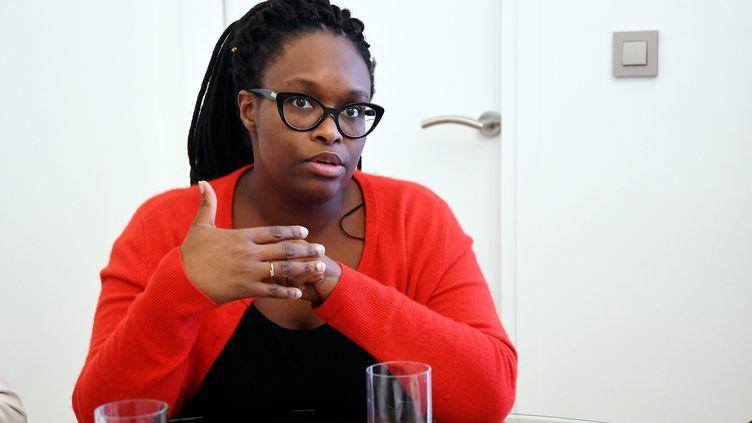 Sibeth Ndiaye, la porte-parole du gouvernement, à la préfecture des Pyrénées-Orientales à Perpignan, le 17 janvier 2020. (MICHEL CLEMENTZ / MAXPPP)