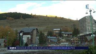 La neige est absente aux Deux-Alpes. (FRANCE 3)