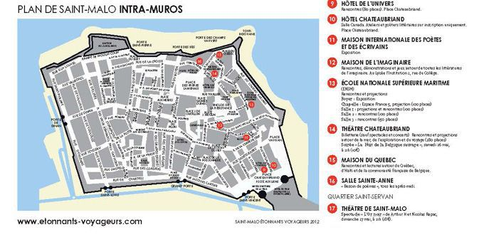 Plan de Saint Malo intra muros  (DR)