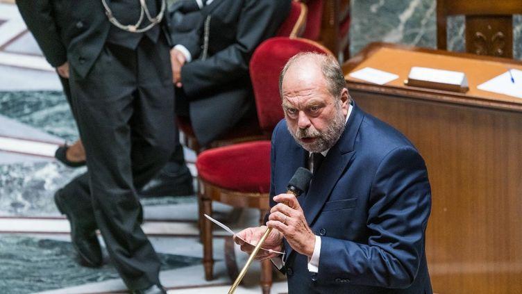 Le ministre de la Justice, Eric Dupont-Moretti, lors d'une séance de questions au gouvernement à l'Assemblée nationale, à Paris, le 15 septembre 2020. (VOISIN / PHANIE / AFP)