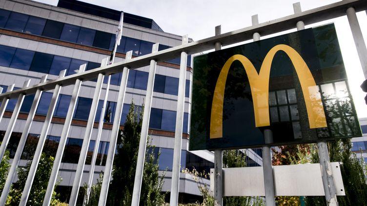 Le siège social de McDonald's en France, àGuyancourt, dans les Yvelines. (VINCENT ISORE / MAXPPP)