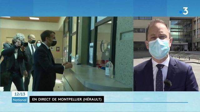 Sécurité : Emmanuel Macron, en visite à Montpellier, défend sa politique auprès des policiers