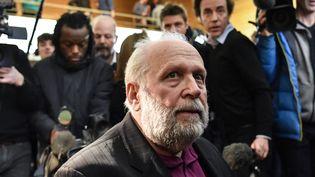 Le prêtre Bernard Preynat, le 13 janvier 2020,au tribunal de Lyon. (PHILIPPE DESMAZES / AFP)