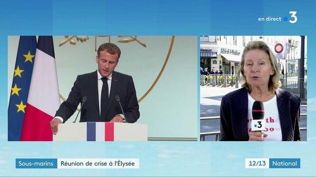 Sous-marins : réunion de crise à l'Élysée avant l'entretien téléphonique d'Emmanuel Macron et Joe Biden