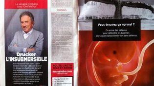 """La publicité de la fondation Jérôme Lejeune dans les pages du """"Nouvel Observateur"""", le 10 décembre 2012. (FRANCETV INFO)"""