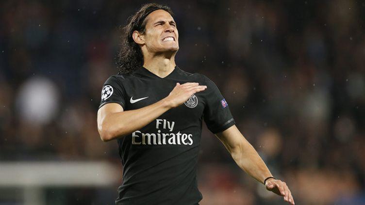 (Cavani a marqué le deuxième but pour le PSG à la 61e minute © Maxppp)