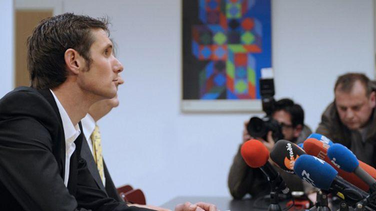 Franck Schleck (RadioSchack) (JEAN-CHRISTOPHE VERHAEGEN / AFP)