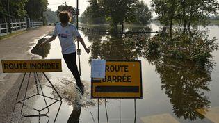 Inondations à Les Damps (Eure), le 5 juin 2016 (JEAN-FRANCOIS MONIER / AFP)