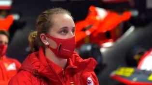 Maya Weug, 16 ans vient d'intégrer l'école des pilotes Ferrari. (CAPTURE D'ECRAN TWITTER)