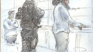 Abdelkader Merah lors de son procèsdevant la cour d'assises spéciale de Paris, le 2 octobre 2017. (BENOIT PEYRUCQ / AFP)