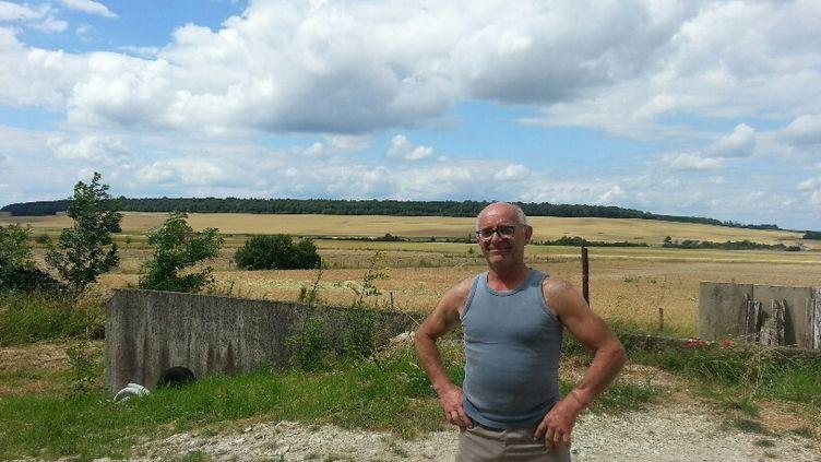 Jean-Pierre Simon, céréalier dans la Meuse, est accusé d'avoir aidé l'installation des zadistes sur un terrain destiné au projet de stockage des déchets nucléaires Cigéo, près de Bure. (ANNE-LAURE BARRAL / RADIO FRANCE)