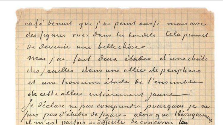 VAN GOGH Vincent (1853-1890) GAUGUIN Paul (1848-1903). Lettre autographe signée adressée à Émile BERNARD [Arles 1er ou 2 novembre 1888], 4 pages in-8 à l'encre sur papier quadrillé. (Déchirures sans altération de texte). (MAISON D'ENCHERES DROUOT)