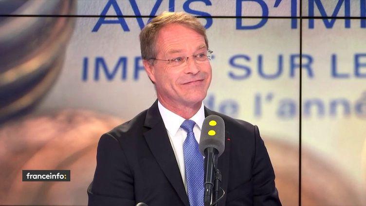François Asselin, président de la Confédération des petites et moyennes entreprises, vendredi 31 août sur franceinfo. (FRANCEINFO / RADIOFRANCE)