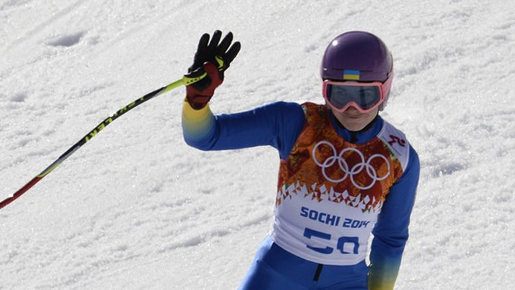 L'Ukrainienne Bogdana Matsotska devait encore participer au slalom vendredi (FRANCK FIFE / AFP)
