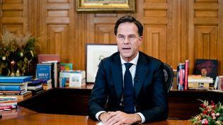 Le Premier ministre des Pays-Bas, Mark Rutte, lors d'une allocution télévisée, à La Haye, le 14 décembre 2020. (BART MAAT / ANP MAG / AFP)