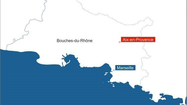 La ville d'Aix-en-Provence est située dans le département des Bouches-du-Rhône. (RADIO FRANCE / FRANCEINFO)
