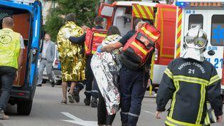 Une explosion au gaz a eu lieu à Dijon (Côte d'Or), le 16 septembre 2016. (MAXPPP)