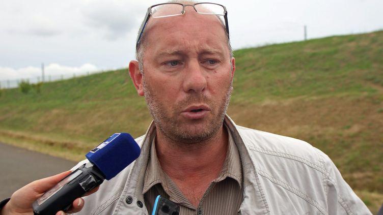 Emmanuel Baudin, le secrétaire général duSyndicat national penitentiaire force ouvrière (SNPFO), en août 2016. (MAXPPP)