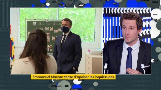 Rentrée scolaire : Emmanuel Macron a tenté d'apaiser les inquiétudes
